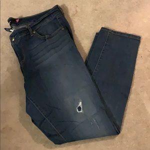 Torrid denim jeans 18 destructed